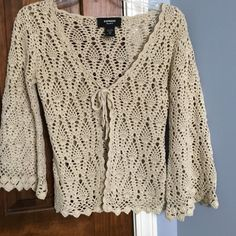 express knitted open cardigan ties in front. basically brand new! Express Sweaters Cardigans