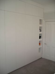 I would definitely prefer hinged doors on the wardrobes to sliding | fitted wall to wall and floor to ceiling wardrobe