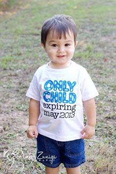 Only Child Shirt Pregnancy Announcement on Etsy, $25.00
