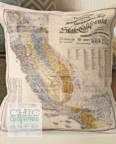 map pillows, I totally want to make one w/a Disney park map!! Just print, transfer, & iron!