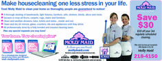 Molly Maid house cleaning maid service will clean and tidy your home! No more dirt or dust. Your floors will be clean! Save on your service today. www.mollymaid.com/local-house-cleaning/ny/eastern-monroe-county/maid-team.aspx