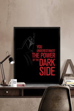 Star Wars art print Darth Vader art poster You by iPrintPoster
