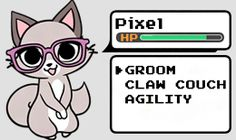 Characters GaMERCaT He's a cat. He likes to play video games. He often has a hard time with this since he's a gamer cat living in a gamer human world, but he gets by. Gender: Male Glitc…