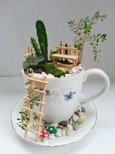 Un mini jardín artesanal