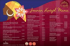 Here is a tasty preview of our Jounen Kweyol menu here at Coco Palm.