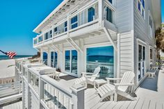 Set in a prime gulf front location, this traditional beach house encapsulates waterfront living with incredible gulf views from almost every room. Presiding on 64 feet of pristine beach frontage from its elevated position, this desirable vacation home offers a beach lifestyle that everyone can enjoy. Ideal as a second home or vacation rental, this well-appointed beach cottage has impact doors and windows, hardwood flooring and a wrap-around deck on the entire first floor.