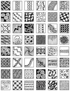 Page 30 zentangle patterns free | Zentangle ~ Grid Design & Fill Ideas - mischellesmith