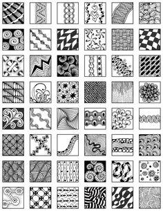 Page 30 zentangle patterns free | Zentangle ~ Grid Design & Fill Ideas - mischellesmith