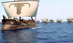 """Replica of an Etruscan ships with the """"eye"""" detail -Troy Movie"""