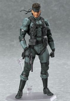 Metal Gear Solid 2 Sons of Liberty Figma Actionfigur Solid Snake MGS2 Ver. 16 cm