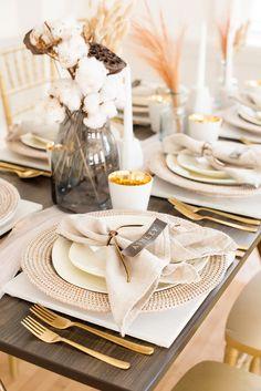 This Modern Wedding Inspiration Looks A Lot Like West Elm #contemporaryweddingideas #metallicgolddecor #modernweddingdresses