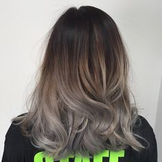 Grey hair ombre