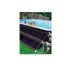 aboveground pools can add degrees of heat using a solar pool heater. How to buy and install a DIY pool solar heater on an above ground pool. Swimming Pool Heaters, Solar Pool Heater, Swimming Pools, Above Ground Pool Heater, Raised Pools, Solar Cover, My Pool, Pool Fun, Pool Water