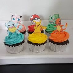 This item is unavailable Harry Birthday, Kylie Birthday, 6th Birthday Parties, 8th Birthday, Birthday Ideas, Pokemon Themed Party, Pokemon Birthday Cake, Pokemon Cupcakes Toppers, Cupcake Toppers