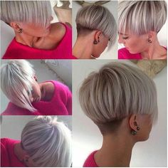 Modern bowl cut with long fringe. - - Modern bowl cut with long fringe. Short Hair Cuts For Women, Short Hair Styles, Corte Y Color, Haircut And Color, Pixie Hairstyles, Short Haircuts, Short Wedge Hairstyles, Great Hair, Hair Today