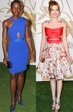 Lupita and Bella hit the high fashion marks!