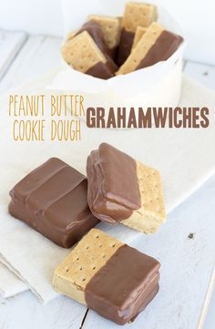 Peanut Butter Cookie Dough Grahamwiches: