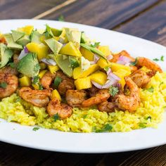 Paprika Shrimp with Mango and Avocado Salsa