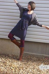 maroon tights, navy dress