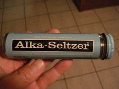 My mom took these all the time. I remember these glass bottle Alka seltzers