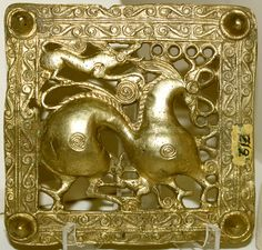 old Scythian belt title, Mingachevir (ancient Scythian kingdom), Azerbaijan, 7th century BC.