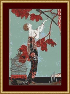 Fashion Cross Stitch Pattern