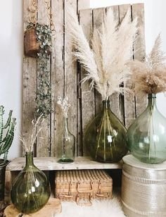 Boho Living Room, Living Room Decor, Deco Champetre, Minimalist Home Interior, Deco Floral, French Country Cottage, Vases Decor, Flower Vases, Dried Flowers