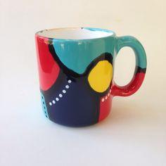 Hand Painted Mugs, Tea Cups, Ceramics, Tableware, Unique, Painting, Accessories, Products, Ceramica