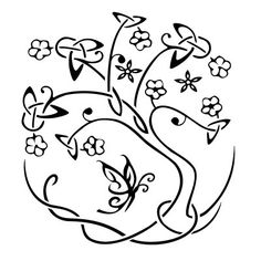 LOVE! I want to get this tattoo on my shoulder!! I love the Trinity symbols in the leaves of the Tree of Life and I would add two little birds to represent my two children :-)