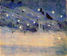 aesza:  MikalojusKonstantinasČiurlionis,Sparks III, 1906 by ErgSap on Flickr.