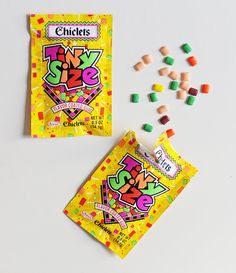 Someone posted these were in their childhood 1990's, but these were out decades before the 90's. As Tiny Chicklets were also part of my childhood.