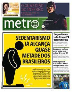 Sedentarismo já alcança quase metade dos brasileiros, no Metro Belo Horizonte!