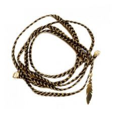 Braided Bracelet with a Feather