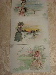 3 - Large 5X7 Inch, Clark's Spool Cotton Victorian Trade Cards, Lot 2