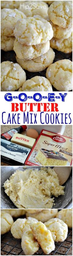 Gooey Cake Mix Butter Cookie Recipe. This is a great cookie recipe to make if you're looking for softy and chewy cookies to enjoy with the family. Feel them melt in your mouth as you take your first bite of these oh so yummy cookies! Got to have them as your dessert!