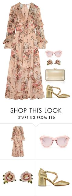 """""""Venetian"""" by lowrilester ❤ liked on Polyvore featuring Zimmermann, Karen Walker, Les Néréides, Marc Jacobs and Judith Leiber"""