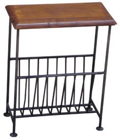 Iron Magazine Rack Wooden Top Furniture Decor Table Shelve Furniture NEW  Make the Best this Cheap Gift. At Luxury Home Brands WE always Find Great Stuff for you :)