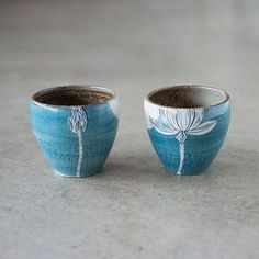 Blue Lotus cups by Momoko Otani. Available in store and online @otnmmk #daylesford #handmade
