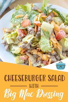 Salad Recipes, Diet Recipes, Cooking Recipes, Healthy Recipes, Main Dish Salads, Dinner Salads, Summer Recipes, Easy Dinner Recipes, Cheeseburger Salad Recipe