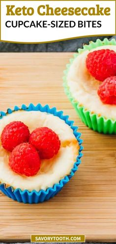 These are delightful mini keto cheesecake bites, same size as muffins or cupcakes. These small individual servings make it easy and quick to prepare and bake. The base filling is New York style with a mild lemon flavor and mixed berries such as raspberry or blueberry, and I use swerve sweetener so there is no sugar. Comes with crust made with almond flour, low carb and simple to make. You can also add any topping of choice.