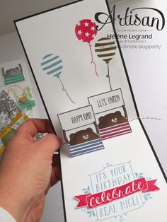 Linnet Stamp 2: Variation around the set Cheerful Critters - Stampin'Up! Artisan Blog Hop - February 2 #