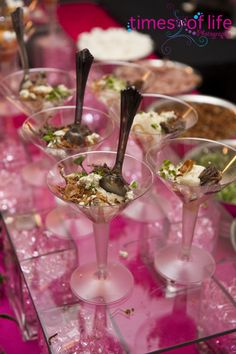 Mashed potato bar, a.k.a. mashtini bar.  Thrilled with the thought of having one of these at our wedding and my fiance is, too.  It was actually his idea!