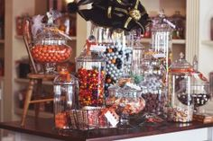 How to incorporate Halloween candy into fall decor you can use later.