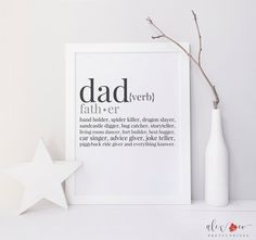 Father's Day gifts under $25: Printable dad definition artwork - so sweet!