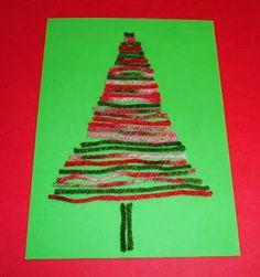 Learning Ideas - Grades K-8: Yarn Tree Craft Activity