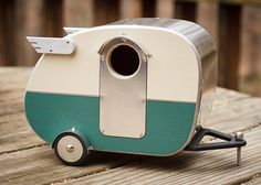 HOW CUTE!  Vintage Camper Birdhouse by jumahl on Etsy, $60.00