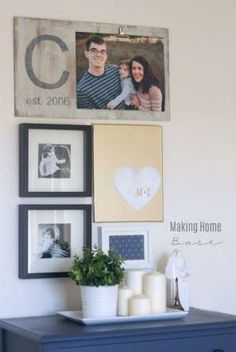Gallery walls can sometimes come off as too perfect and flat. Add a little texture—and give the gall... - Courtesy of Chelsea/Making Home Base