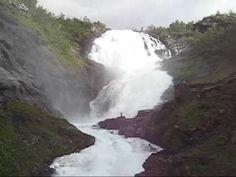 Kjosfossen Waterfall at Flam Railway,Norway