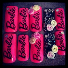 Barbie Nails by KTnails55 on Etsy, $16.50