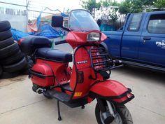 Image may contain: outdoor Vespa T5, Vespa Lambretta, Vespa Scooters, Vespa Excel, Mk1, Touring, Old School, Motorcycle, Stickers